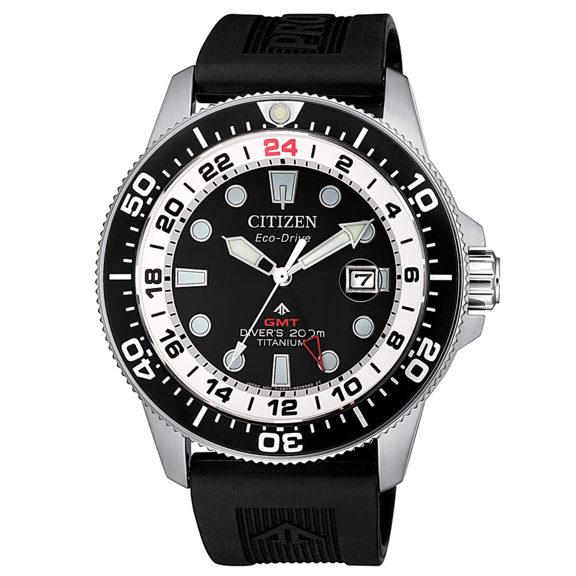 Citizen Watch Italy | Diver's Eco Drive GMT Super Titanio